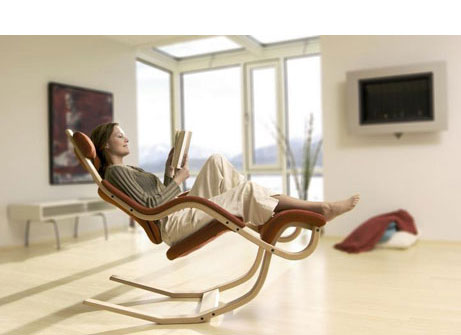 Delicieux This Reclining Chair From Swedish Furniture Designer Varier Is A Show  Stopper. Scandinavian Furniture Is Often Ergonomically Designed.
